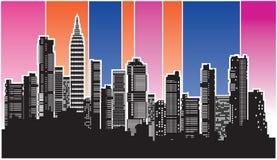 Vector city4 stock de ilustración