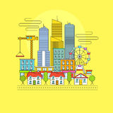 Vector Cityscape Stock Photography