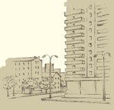 Vector cityscape Stock Image