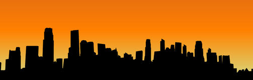 Vector cityscape silhouette Stock Photography