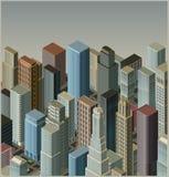 vector Ciudad-isométrico Fotos de archivo libres de regalías