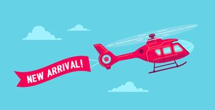 Vector civil helicopter Stock Images