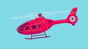 Vector civil helicopter Stock Photography