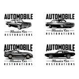 Vector clásico del logotipo de la restauración del coche stock de ilustración