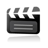 Vector clapboard illustration Royalty Free Stock Photos