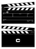 Vector clapboard with shooting details Royalty Free Stock Photos