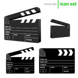 Vector clapboard take icons Royalty Free Stock Photo