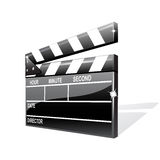 Vector clapper board. Isolated on the white Royalty Free Stock Image