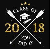 Vector Class of 2018 badge. Stock Image