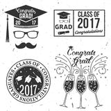 Vector Class of 2017 badge. Set of Vector Class of 2017 badges. Concept for shirt, print, seal, overlay or stamp, greeting, invitation card. Typography design Stock Photography