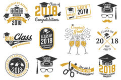 Vector Class of 2018 badge. Stock Photo