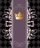 Vector classic banner with crown Royalty Free Stock Images