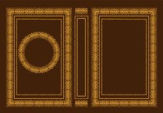 Vector classic book covers. Decorative antique frame or frame for printing on book covers. It is drawn by the standard size. You c. An change the color with a Stock Images