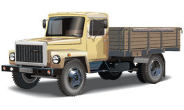 Vector classic cargo truck Stock Images