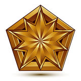 Vector classic emblem isolated on white background. Aristocratic golden star, clear EPS 8 Stock Photography