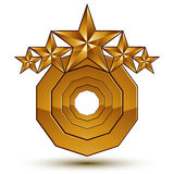 Vector classic emblem isolated on white background. Aristocratic. Golden stars, clear EPS 8 Royalty Free Stock Images