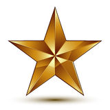 Vector classic emblem  on white background. Aristocratic golden star, clear EPS 8 Stock Images