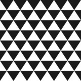 Vector classic geometric seamless pattern made with black and white triangles stock image