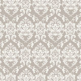 Vector Classic Luxury Damask pattern. Luxury floral stylish texture of damask or baroque style. Beige pastel color ornament Royalty Free Stock Image