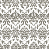 Vector Classic Luxury Damask pattern. Luxury floral stylish texture of damask or baroque style. Gray color ornament Royalty Free Stock Images