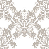 Vector Classic Luxury Victorian pattern. Luxury floral stylish texture of damask or baroque style. Beige pastel color ornament vector illustration