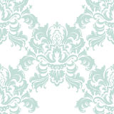 Vector Classic Luxury Victorian pattern. Luxury floral stylish texture of damask or baroque style. Blue color ornament royalty free illustration