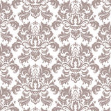 Vector Classic Luxury Victorian pattern. Luxury floral stylish texture of damask or baroque style. Taupe color ornament royalty free illustration