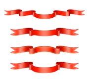 Classic Red Ribbon Set Stock Photo