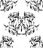 Vector classic seamless pattern. Vector black floral seamless pattern Royalty Free Stock Image