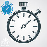 Vector classic stopwatch, additional version included. Eps 8 highly detailed vector illustration. Pocket watch conceptual design element Stock Photo