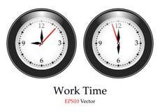 Vector classic wall clock Stock Photos