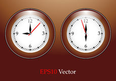 Vector classic wall clock Stock Image