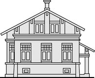 Vector classical house Royalty Free Stock Photo