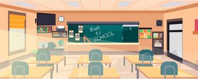 Vector classroom interior vector illustration
