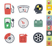 Vector clean icons set Royalty Free Stock Photo