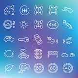 Vector clean icons set Royalty Free Stock Photos
