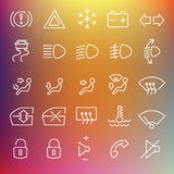 Vector clean icons set Royalty Free Stock Image
