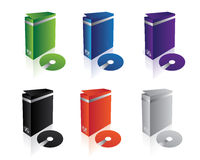 Vector clean software boxes stock illustration