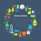 Vector cleaning concept. Royalty Free Stock Image