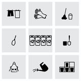 Vector Cleaning icon set Royalty Free Stock Photography