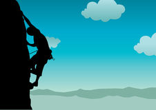 Vector climber. High detail vector illustration of climber Royalty Free Stock Image