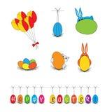 Vector - clip art de Pascua, ejemplos Foto de archivo