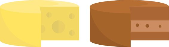 Cheese and Chocolate Vector Clip Art Design royalty free illustration