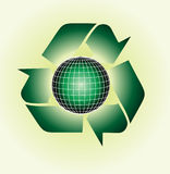 Vector clip art of an ecological green, glossy glo Royalty Free Stock Photography