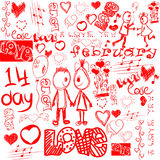 Vector clip-art on the theme of Valentine's Day. Stock Photos