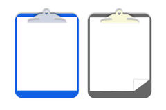 Vector clip board. 2 vector clip boards with different background Stock Image