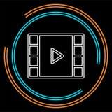 Vector clip play button icon - movie media symbol stock illustration