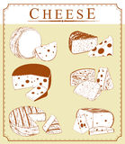 Vector clipart collection of cheese Stock Image