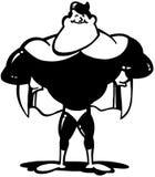 Vector Clipart de la historieta del hombre del super héroe Imagen de archivo libre de regalías