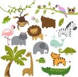 Vector Clipart de los animales del parque zoológico del bebé ilustración del vector